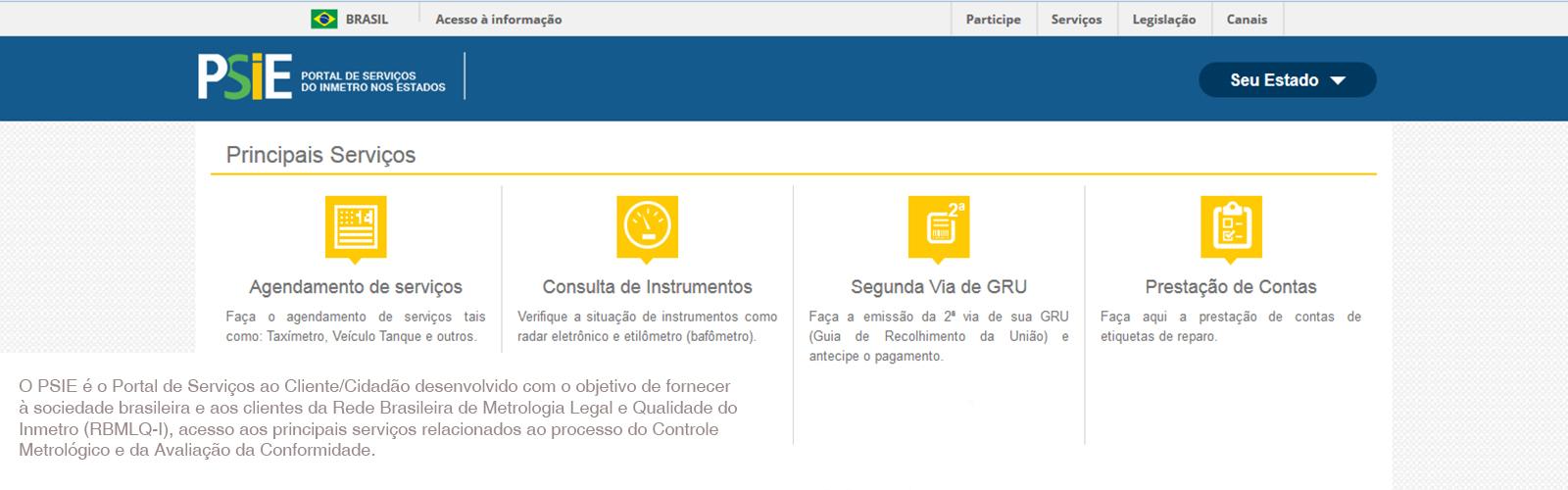 PSIE - Portal de Serviços do Inmetro nos Estados